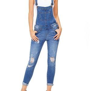 Wax Jeans Women's Denim Overall Jeans Slim Fit  M